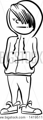 Boy Character Coloring Page