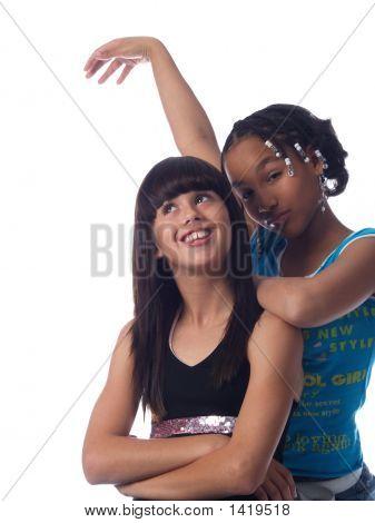 2 Cute Girls Posing