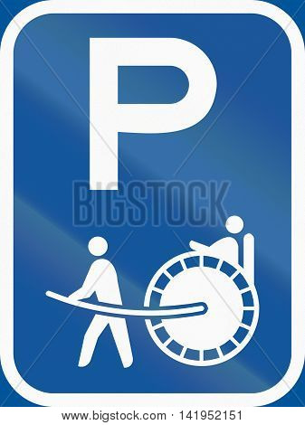 Road Sign Used In The African Country Of Botswana - Parking For Rickshaws