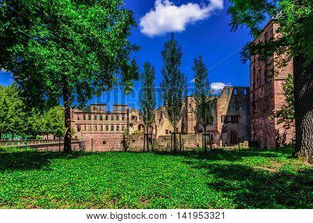 The Heidelberg red Castle in Baden Würtemberg, Germany
