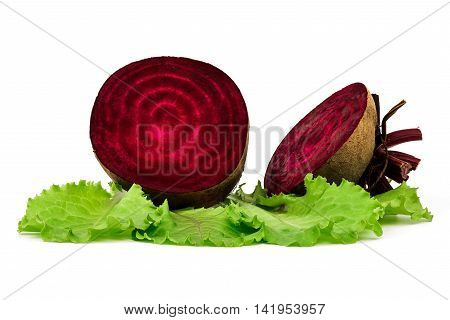 Beetroots Over White