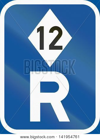 Road Sign Used In The African Country Of Botswana - Reservation For High-occupancy Vehicles