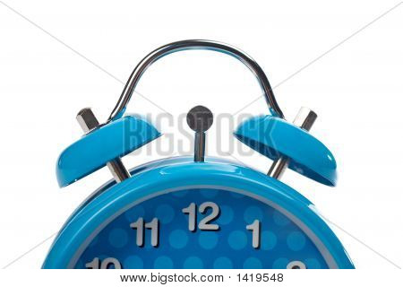 Partial View Of Blue Alarm Clock