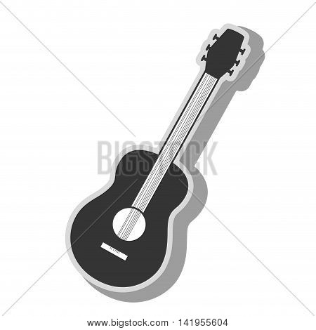 Music instrument in black and white , vector illustration graphic.