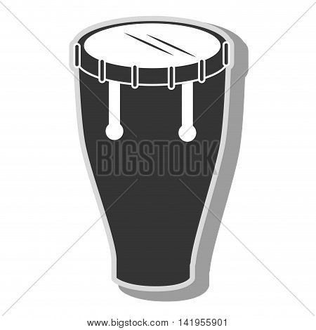 Music instrument drum isolated flat icon graphic design