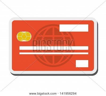 flat design credit or debit card icon vector illustration