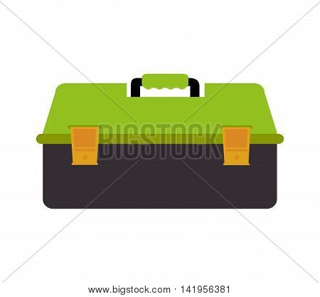 case toolbox repair, isolated flat icon design