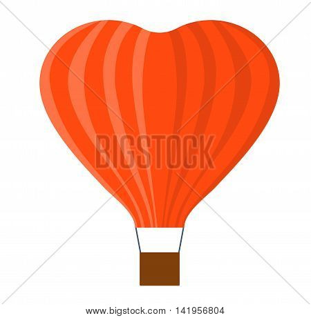 Illustration aerostats flat icons cartoon graphic. Modern balloon aerostat transport sky hot fly adventure journey and old vector air ballon travel transportation flight airship.