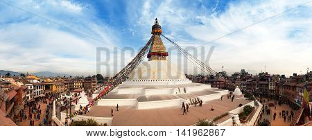 NEPAL KATHMANDU - 10TH OF DECEMBER 2014 - View of Bodhnath stupa