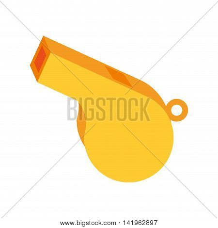 yellow whistle sport, isolated flat icon design