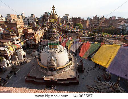 KATHMANDU NEPAL 25th may 2016 - Kathesimbhu stupa - Kathmandu