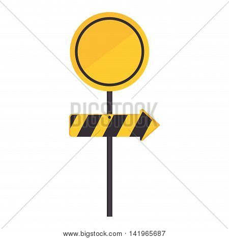 signboard transit direction sign, isolated flat icon design