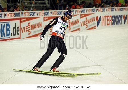 LIBEREC_FEBRUARY 27:Malysz Adán de Polonia en el Campeonato de esquí nórdico mundial el 27 de febrero de 200