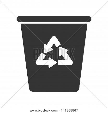 recycle reduce reuse, isolated flat icon design
