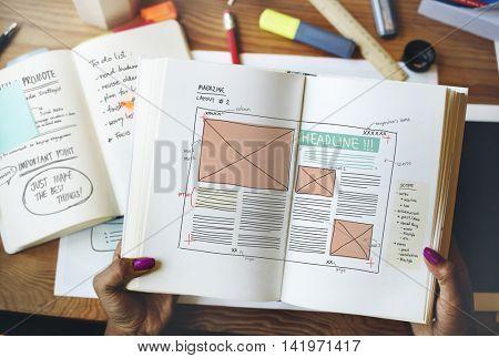 Design Magazine Creativity Layout Media Publication Concept
