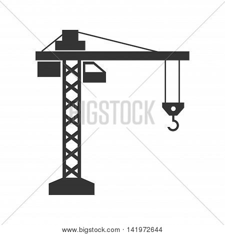 crane machinery construction industry equipped build vector graphic isolated and flat illustration