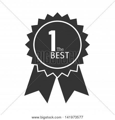 award ribbon first place winner win 1st one the best vector graphic isolated and flat illustration
