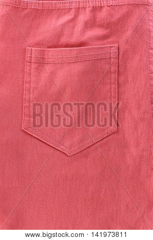 rear pocket of pink jeans for design Fashion background.