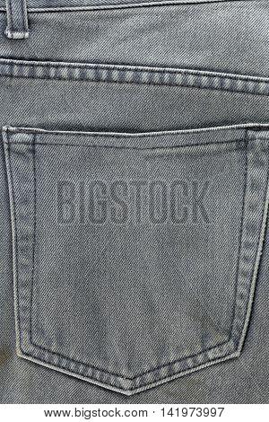 rear pocket of jeans for design Fashion background.