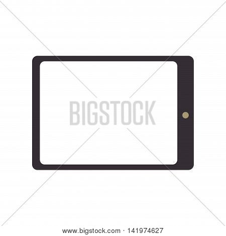 tablet device screen electronic  touch technology computer vector graphic isolated and flat illustration