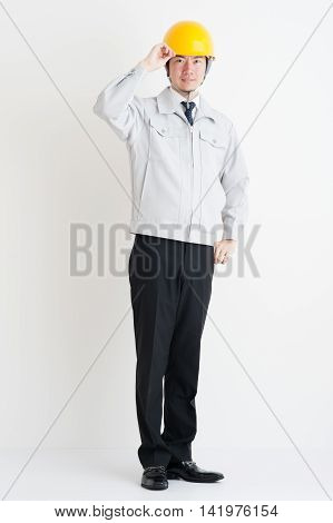 Systemic photos of Japanese men wearing work clothes