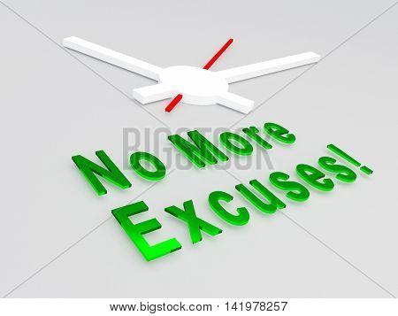 No More Excuses Concept