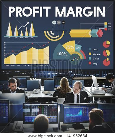 Profit Margin Percentage Business Chart Concept