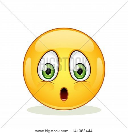 Confused emoticon isolated on a white background. Vector illustration.