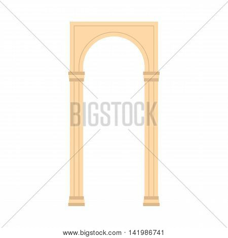 Antique portal icon in flat style on a white background
