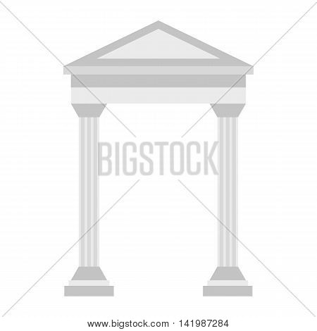 Greek arch icon in flat style on a white background