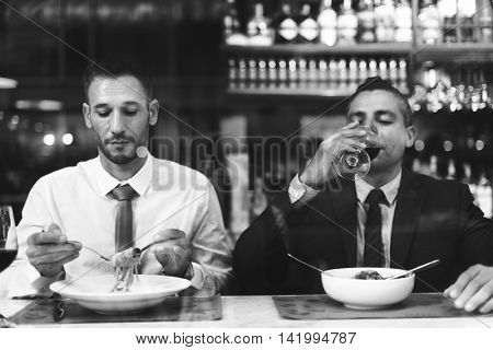 Business Colleagues Dining After Work Concept