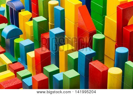 Blocks Toy Abstract Background, Color Building Bricks Pieces