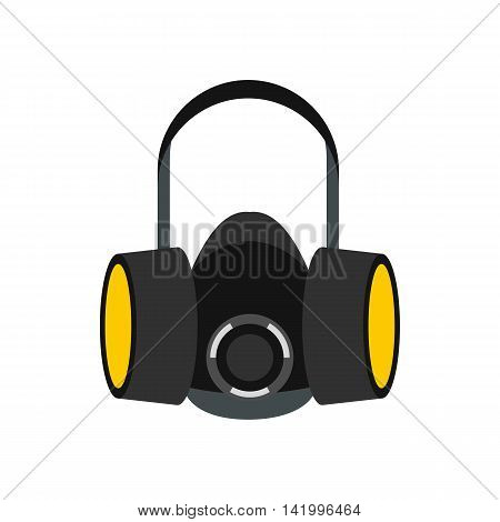 Respirator icon in flat style on a white background
