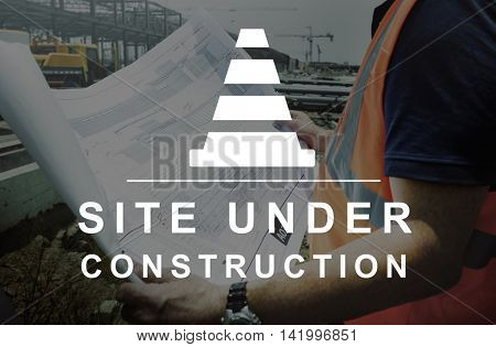 Constuction Hammer Wedge Website Webpage Concept
