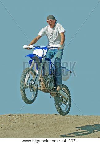 Man Jumping Motorcycle