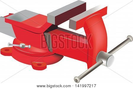 Tabletop swivel clamp Adjustable red vise swivel table for hobby