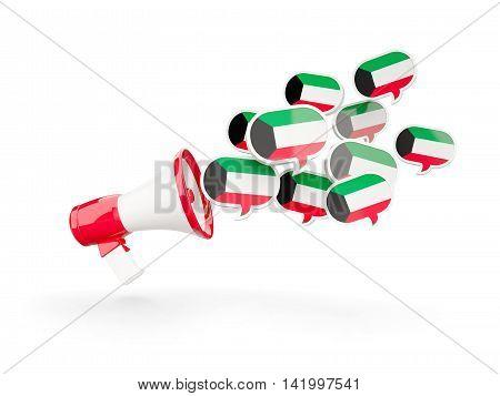 Megaphone With Flag Of Kuwait