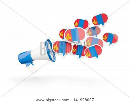 Megaphone With Flag Of Mongolia