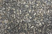 stock photo of feldspar  - grainy gray feldspar stone plate texture  - JPG