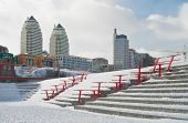 picture of dnepropetrovsk  - Big Ukrainian city Dnepropetrovsk at winter season - JPG