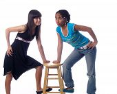 2 Cute Girls With Different Ethnic Backgrounds poster