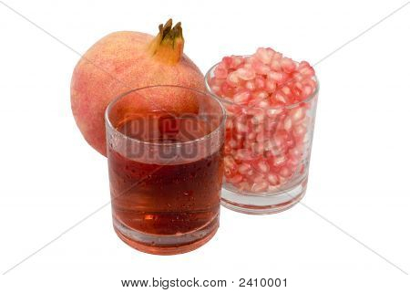 Pomegranate Fruit And Juice