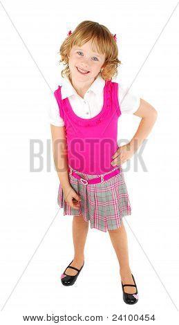 Pretty Little   Girl In Pink Dress