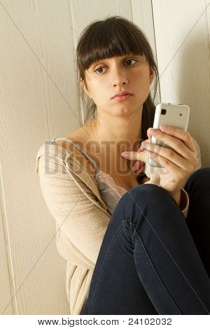 Woman Typing Sms