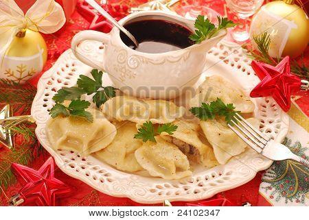 Pierogi (ravioli) And Barszcz (borscht) For Christmas