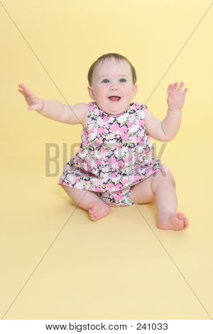 Happy Baby Waving Arms