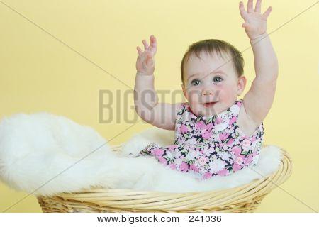 Happy Baby Raising Hands