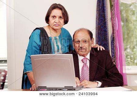 Indian business couple