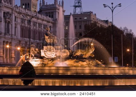 Plaza De La Cibeles Fountain