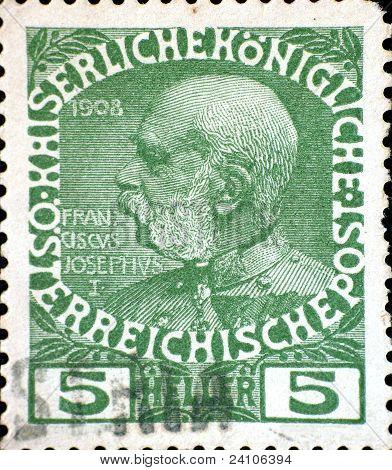 Vintage Austro-hungarian Postage Stamp